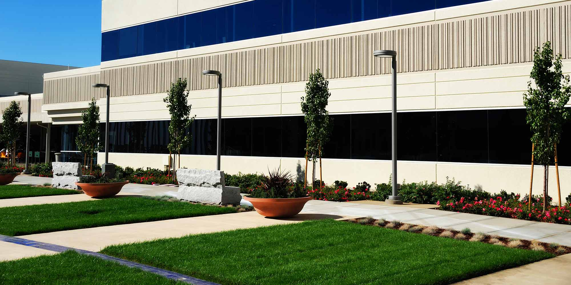 commercial landscaping corporate park lawn care